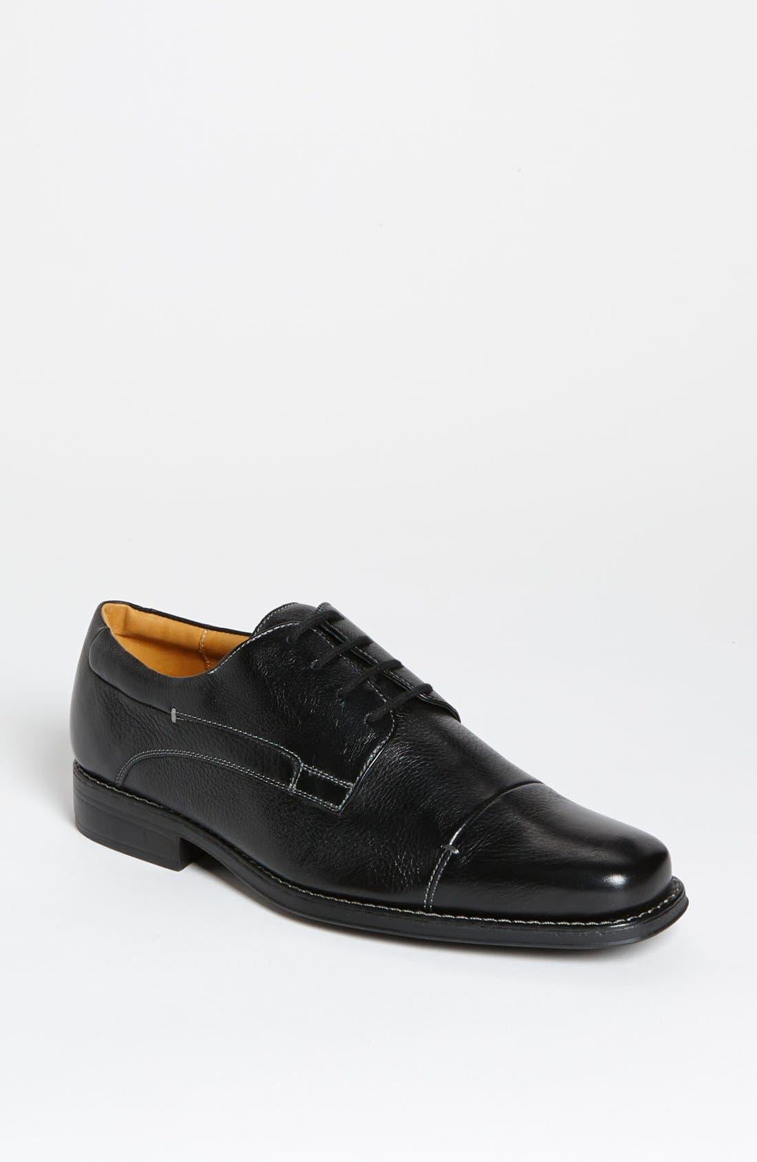 'Gary' Cap Toe Derby,                         Main,                         color, Black