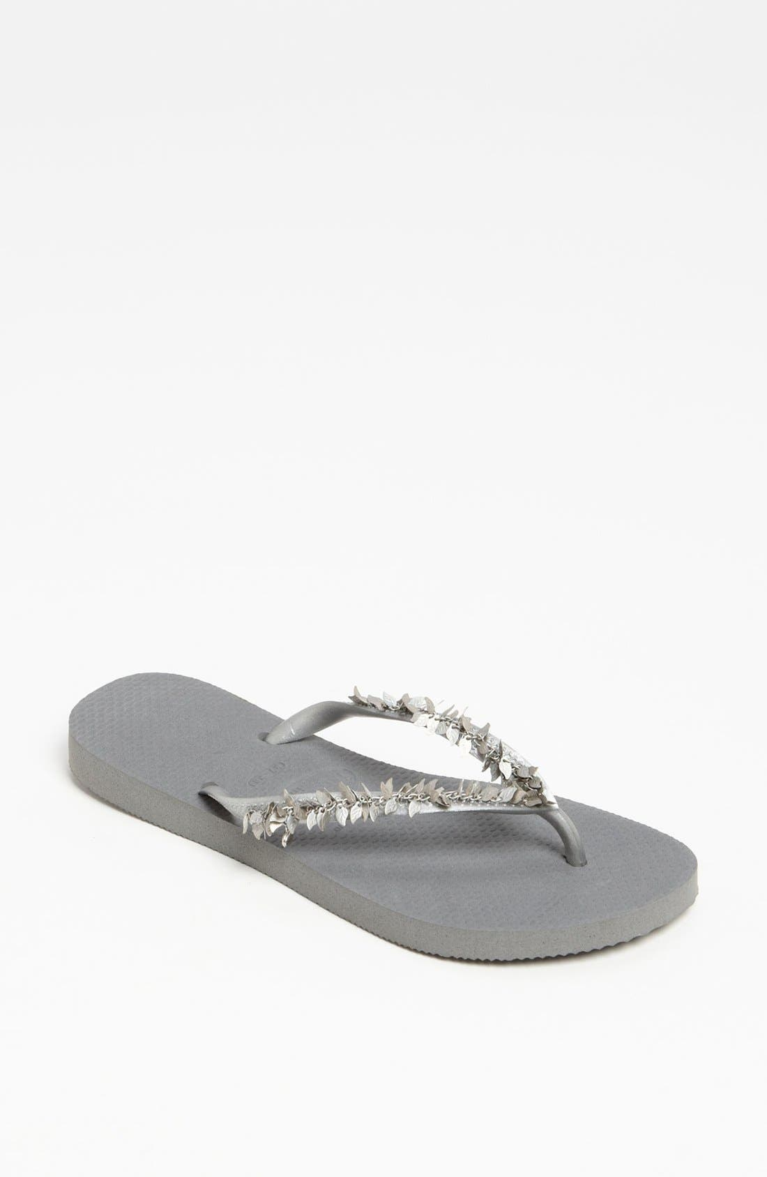 Alternate Image 1 Selected - Havaianas 'Slim Leaves' Sandal (Women)