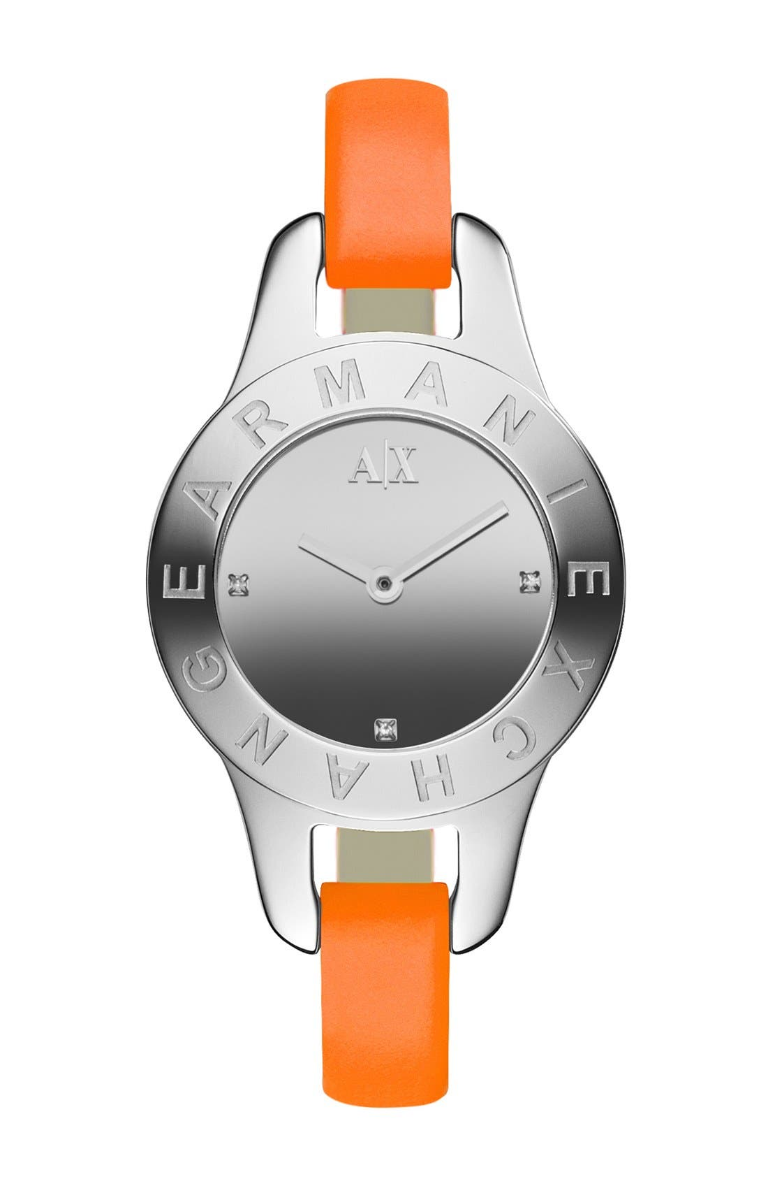 Main Image - AX Armani Exchange Mirror Dial Watch, 30mm