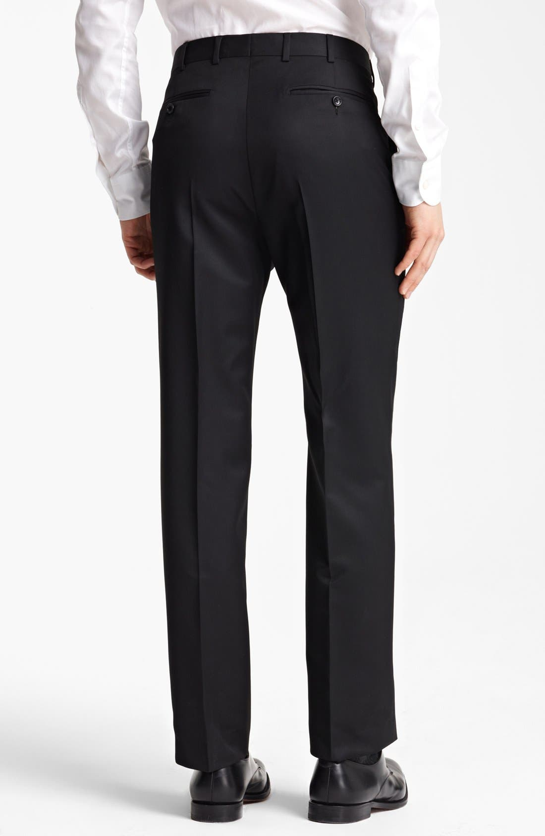 Alternate Image 2  - Z Zegna Flat Front Trousers