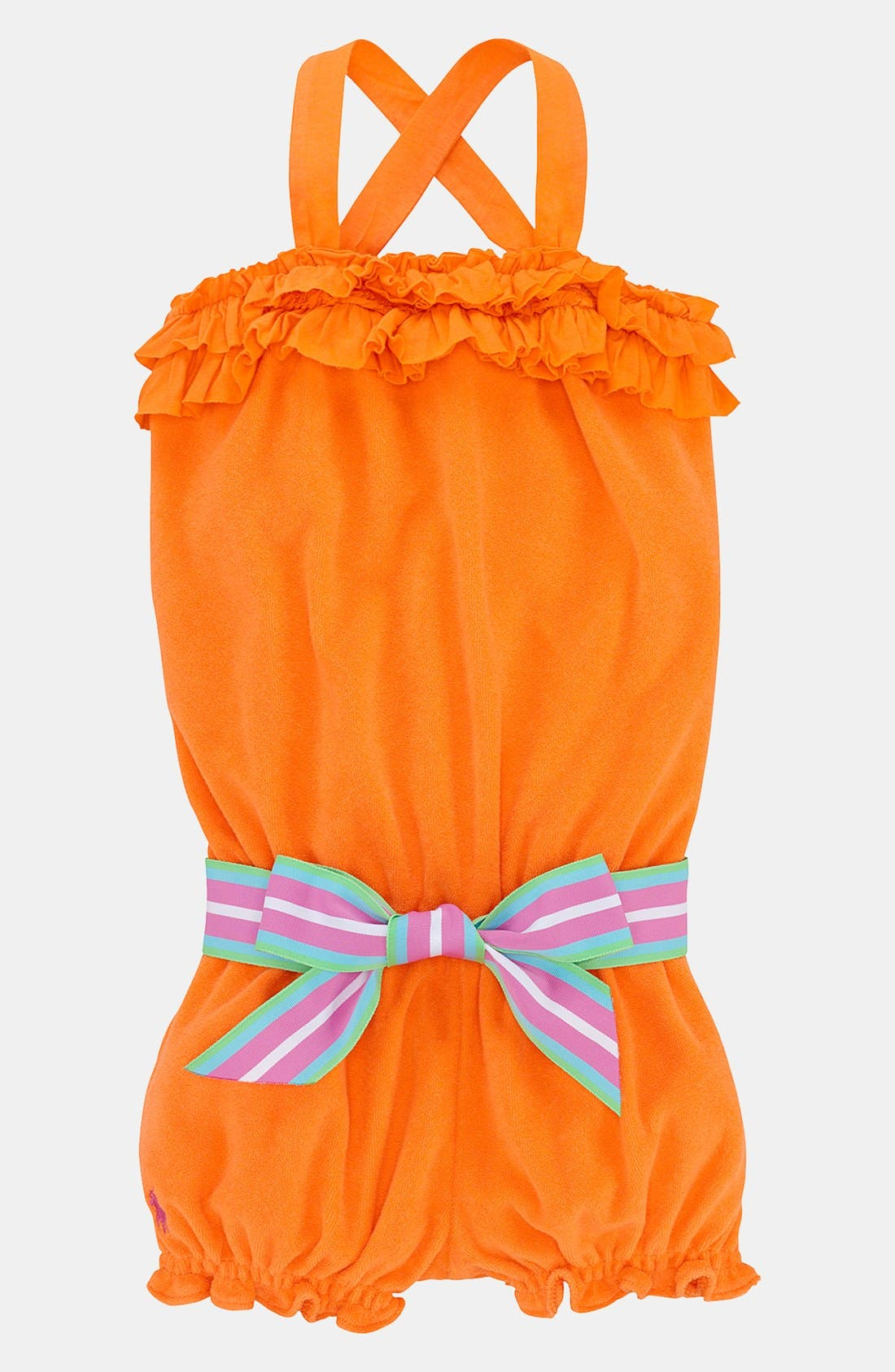 Main Image - Ralph Lauren Terry Cloth Coveralls (Baby)