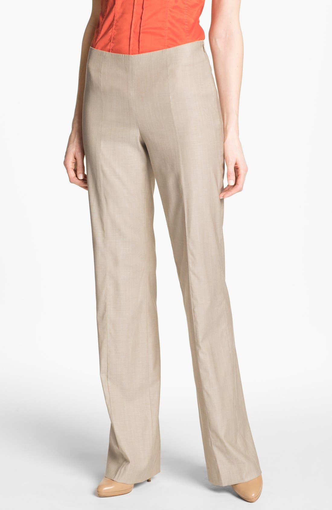 HUGO BOSS 'Tilana' Trousers,                         Main,                         color, Sugar Melange