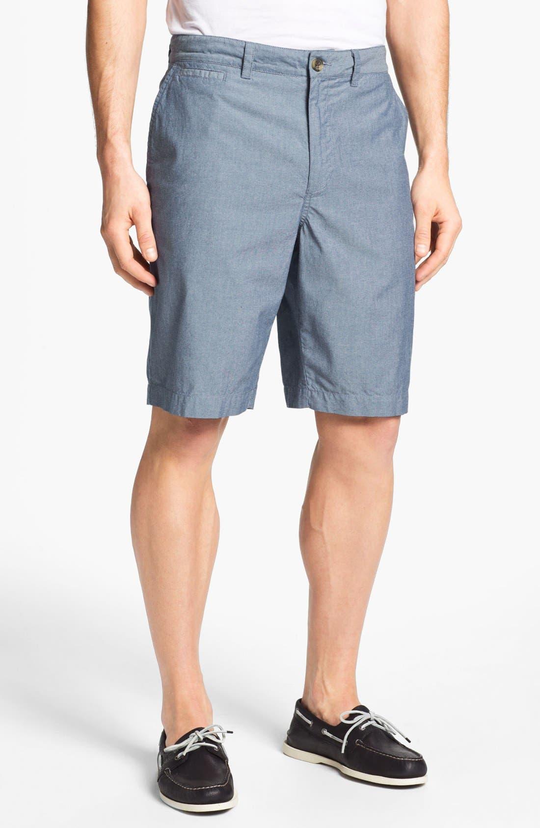 Main Image - Wallin & Bros. 'Lanspur' Chambray Shorts