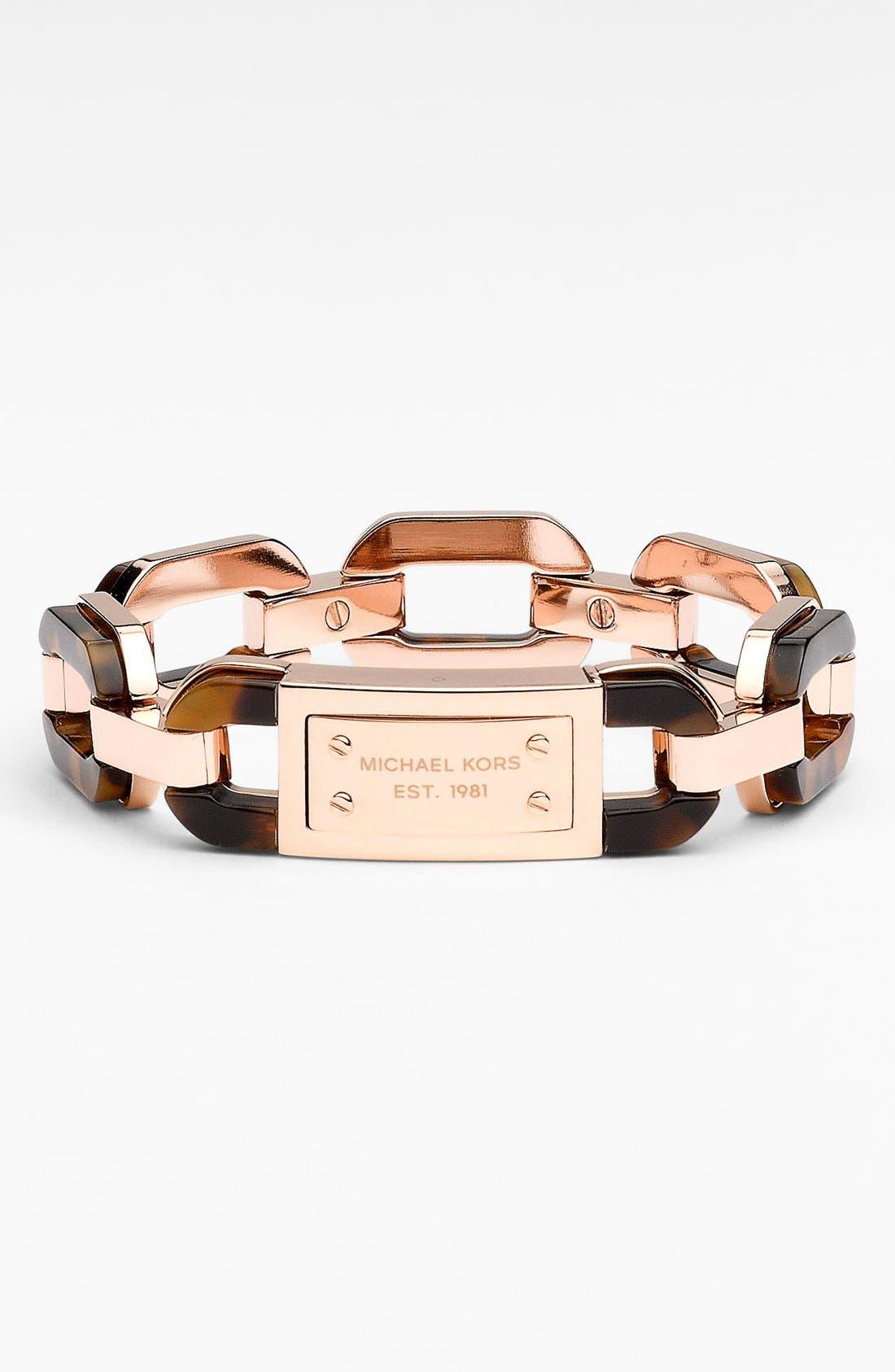 Main Image - Michael Kors Mixed Media Anchor Link Bracelet