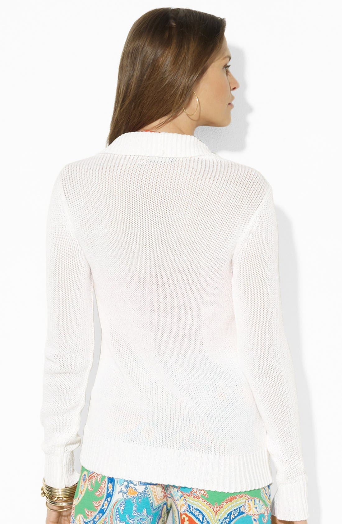 Alternate Image 2  - Lauren Ralph Lauren Open Front Cardigan