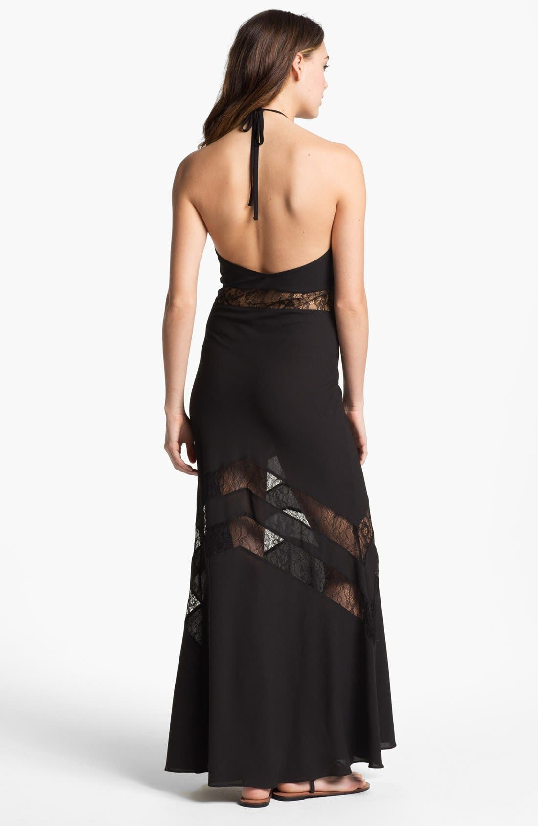 Alternate Image 2  - Lovers + Friends 'Tonight' Lace Inset Maxi Dress