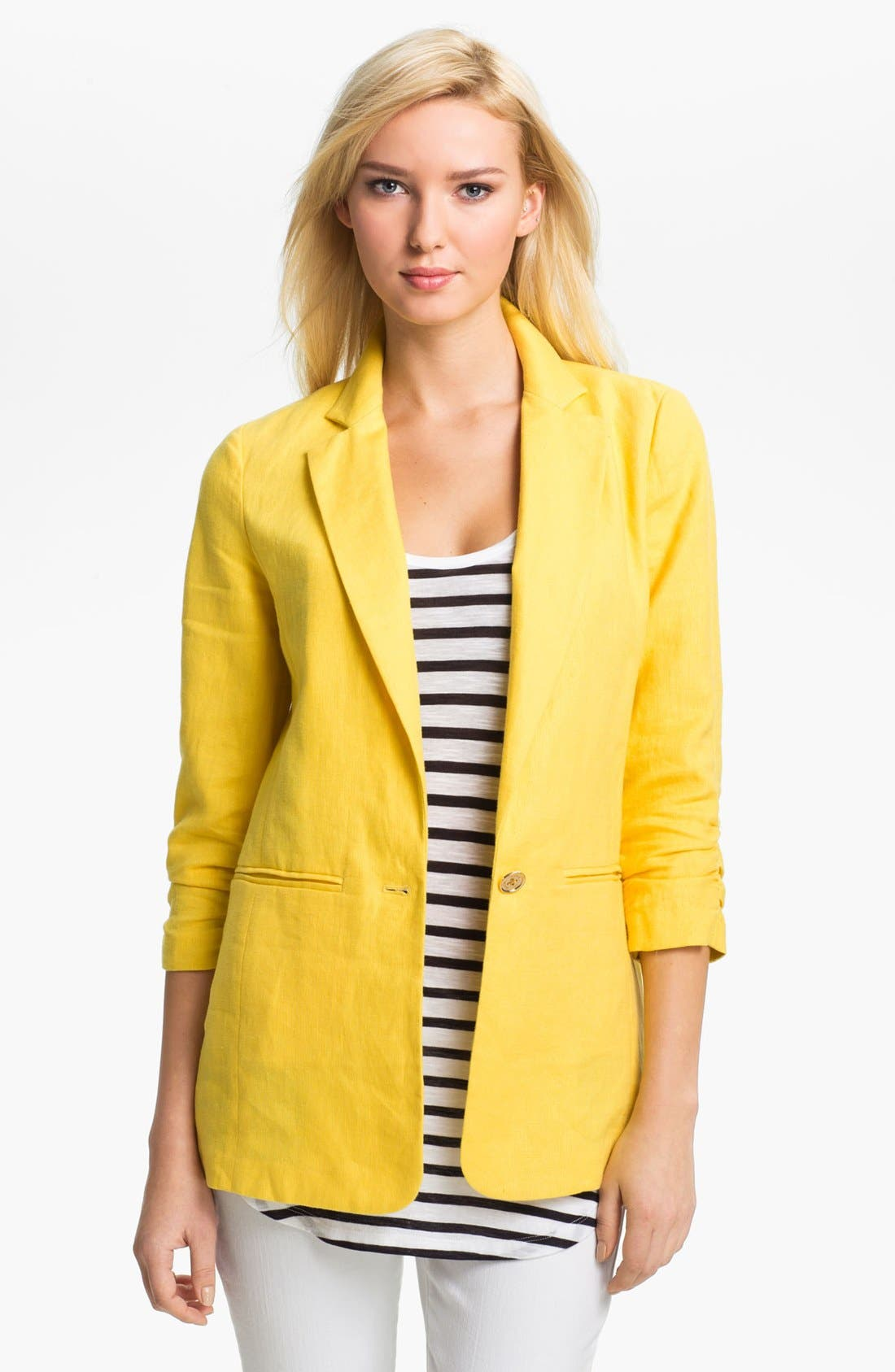 Alternate Image 1 Selected - MICHAEL Michael Kors Shirred Sleeve Jacket