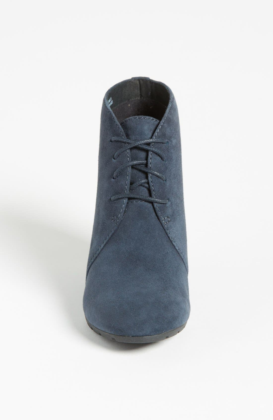 'Rosepoint Dew' Bootie,                             Alternate thumbnail 3, color,                             Navy Suede