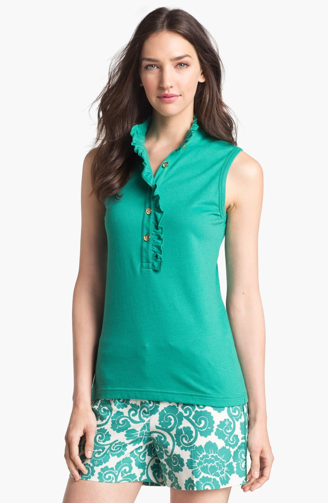 Alternate Image 1 Selected - Tory Burch 'Lidia' Sleeveless Polo