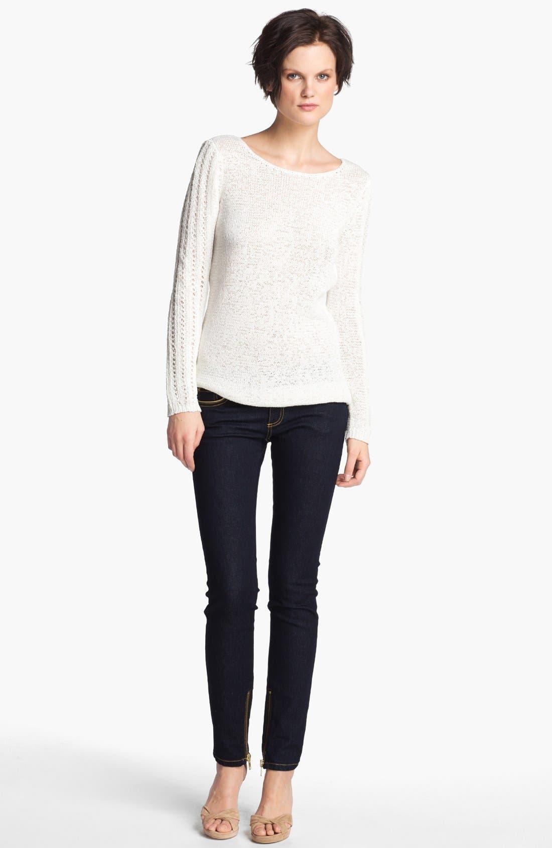 Alternate Image 1 Selected - Rachel Zoe 'Karla' Open Stitch Tunic Sweater