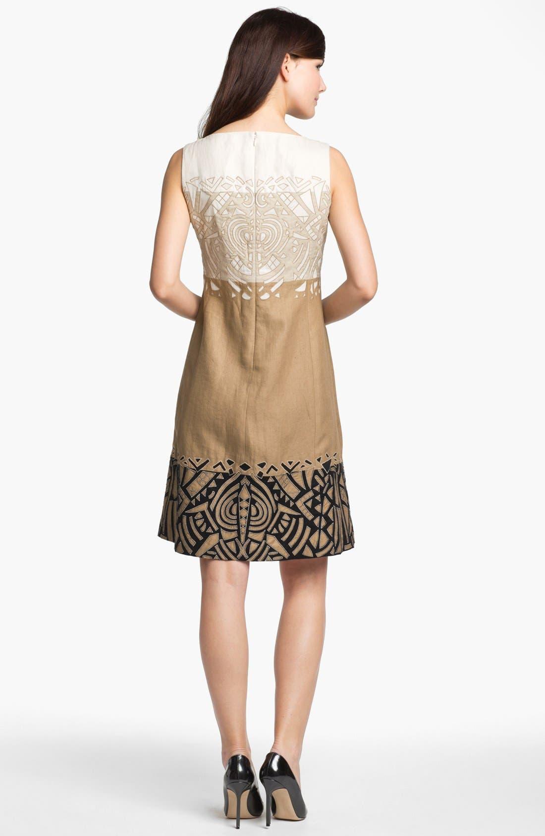 Alternate Image 2  - Lafayette 148 New York 'Lavish Linen' Embellished Dress