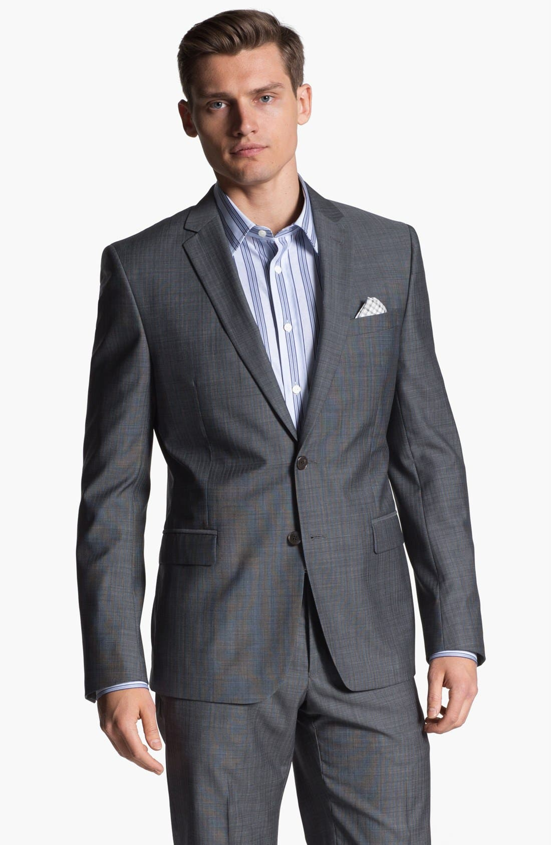 Alternate Image 1 Selected - Versace Trim Fit Wool Blend Suit