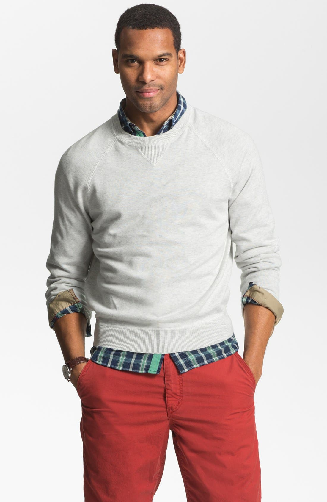 Alternate Image 1 Selected - Brooks Brothers Raglan Sweater