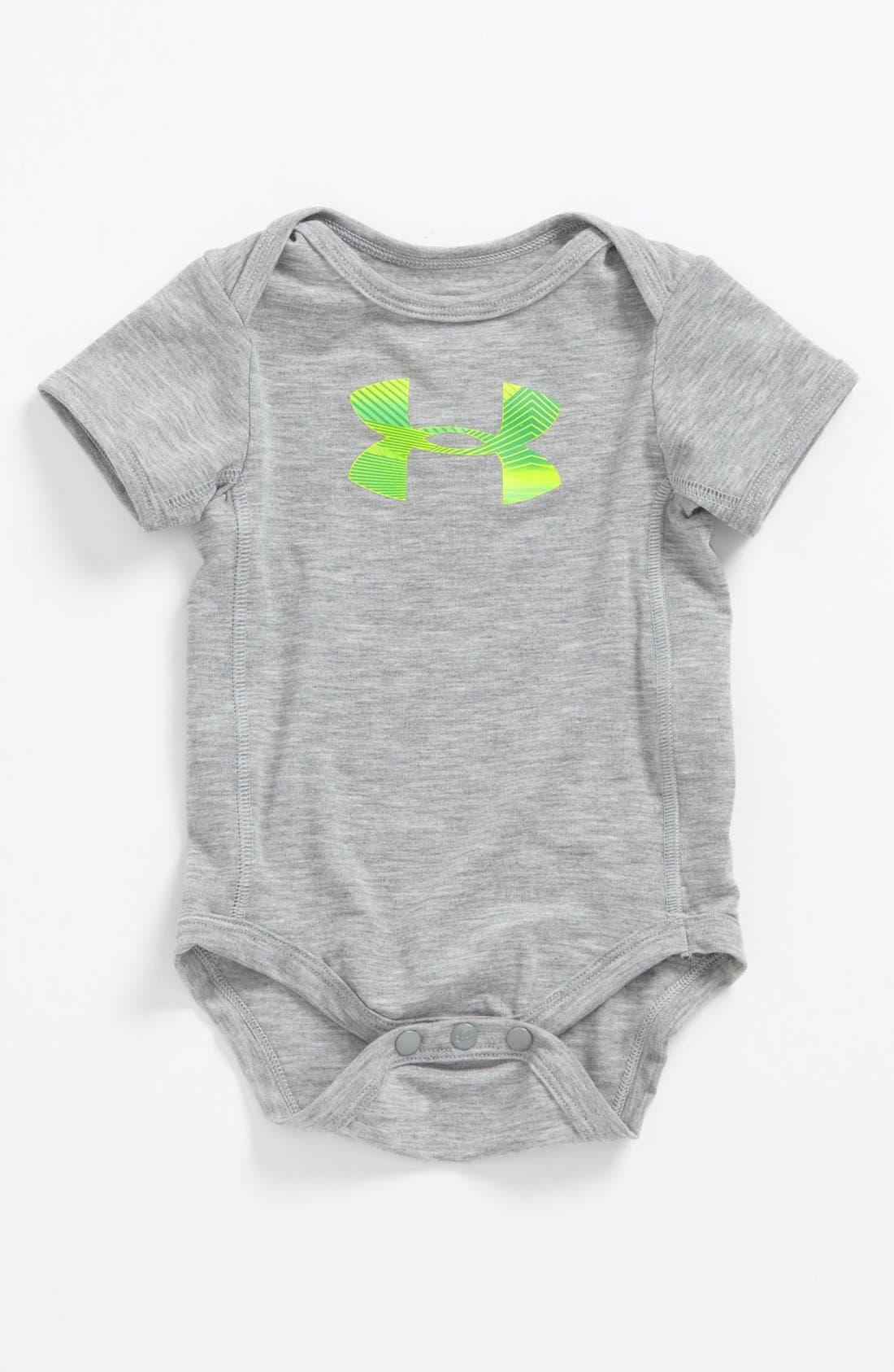 Alternate Image 1 Selected - Under Armour Logo Bodysuit (Baby)
