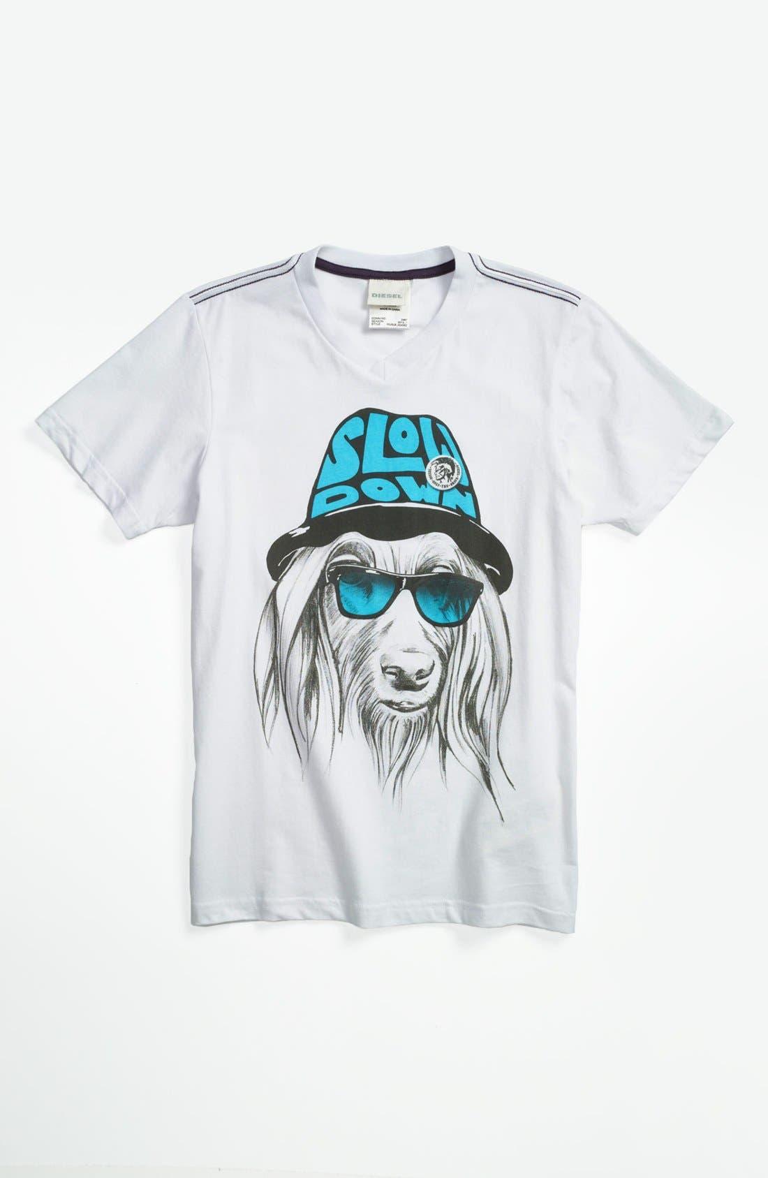 Alternate Image 1 Selected - DIESEL® 'Dog' T-Shirt (Big Boys)
