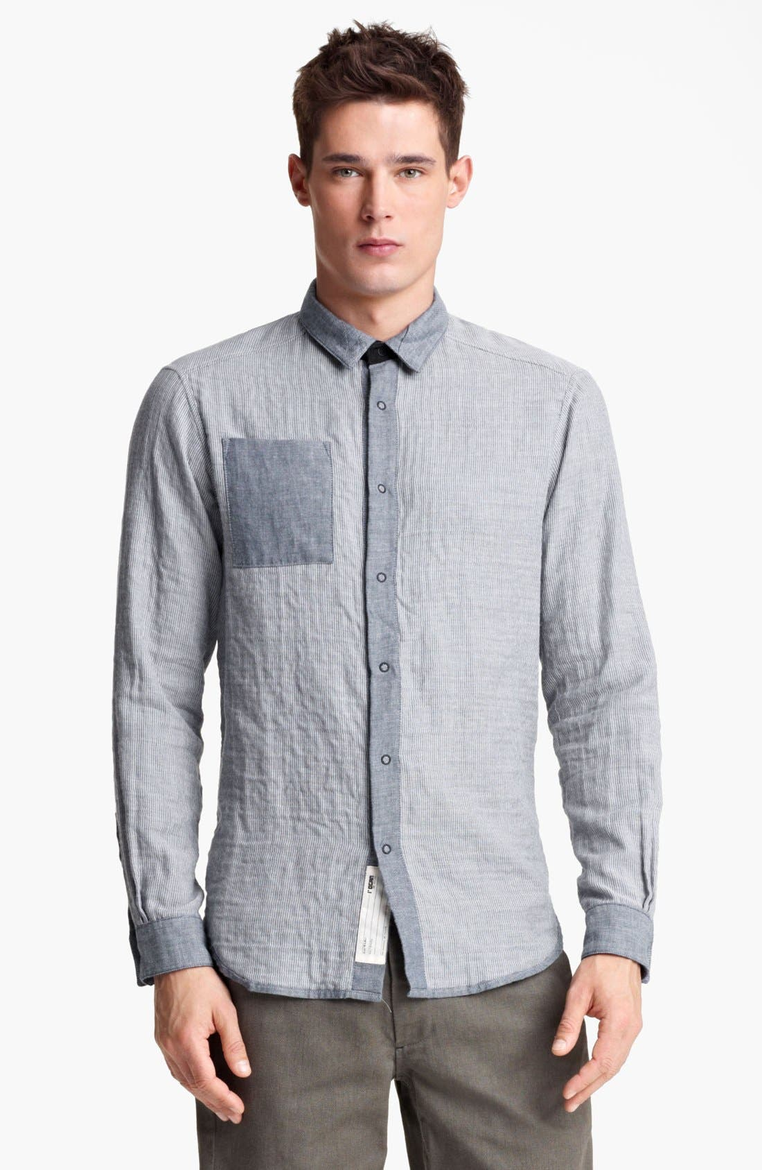Alternate Image 1 Selected - Rogan 'Insidoud' Reversible Chambray Shirt