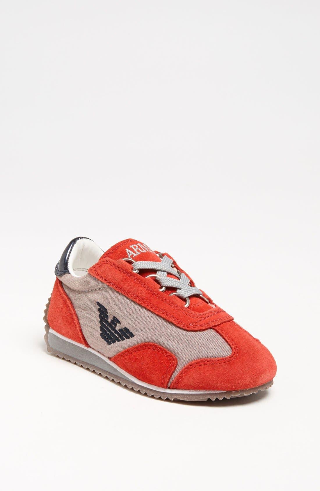 Alternate Image 1 Selected - Armani Junior Sneaker (Walker & Toddler)