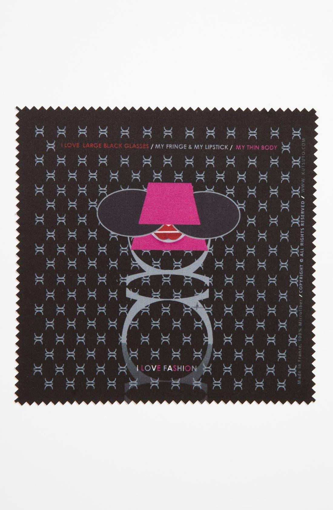 Alternate Image 1 Selected - KUTSUTO 'Kutsinette - I Love Fashion' Microfiber Cloth