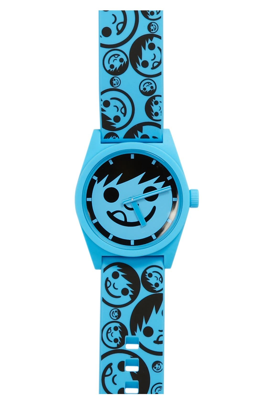 Alternate Image 1 Selected - Neff 'Daily' Rubber Strap Watch, 40mm