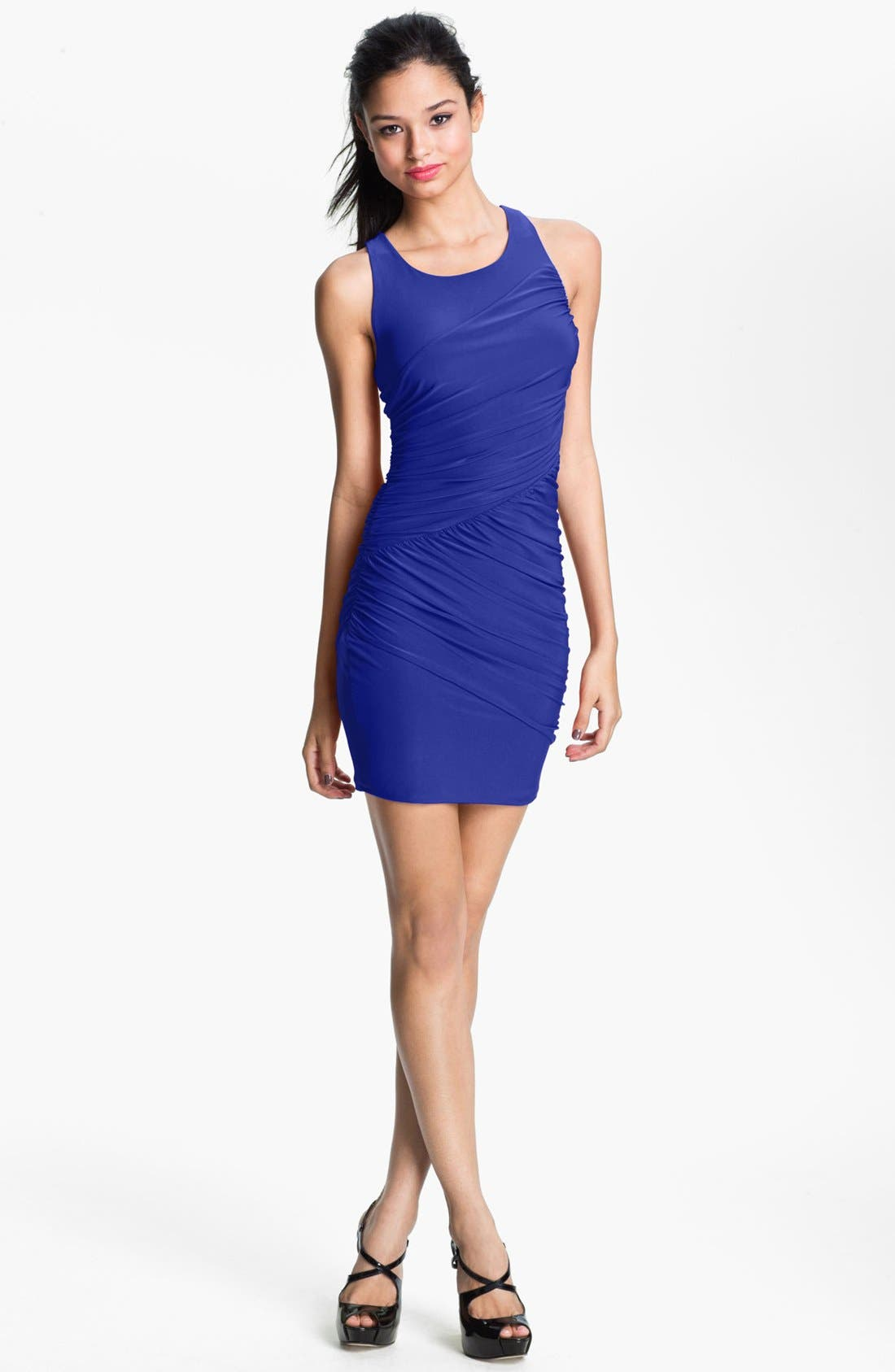 Main Image - Soprano Cutout Racerback Body-Con Dress (Juniors) (Online Only)
