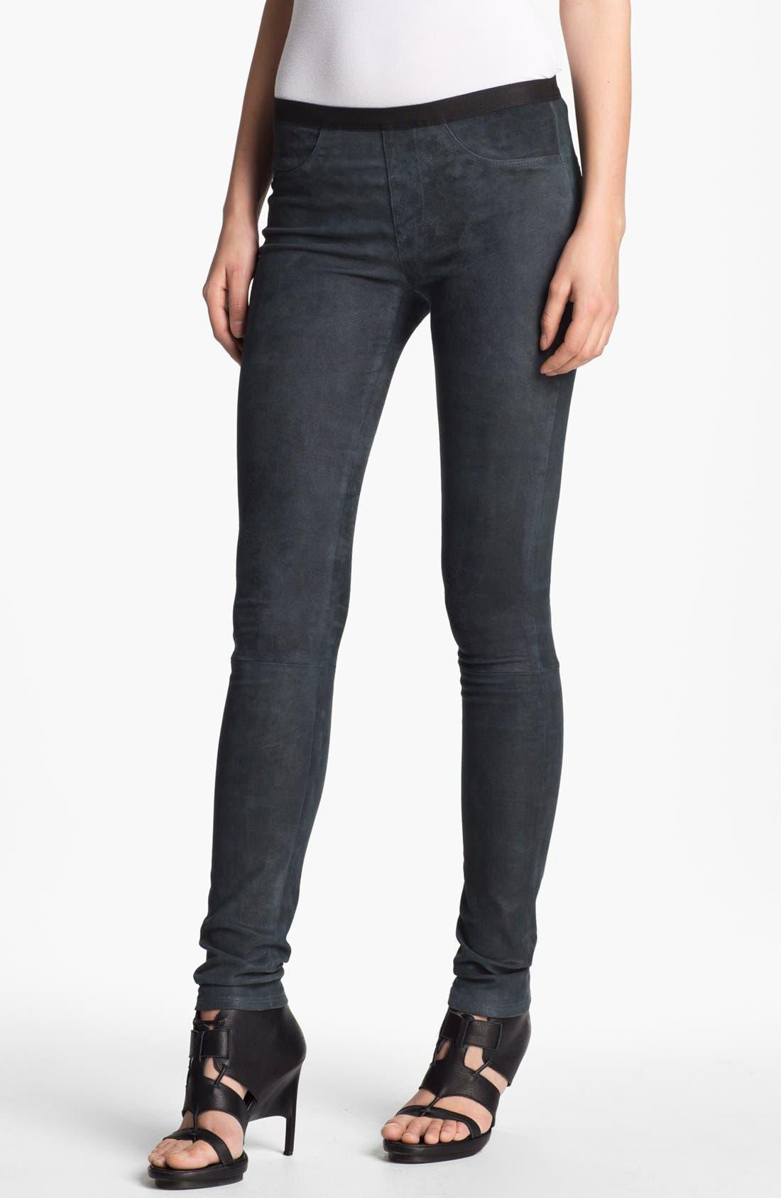 Alternate Image 1 Selected - Helmut Lang Patina Leather Leggings