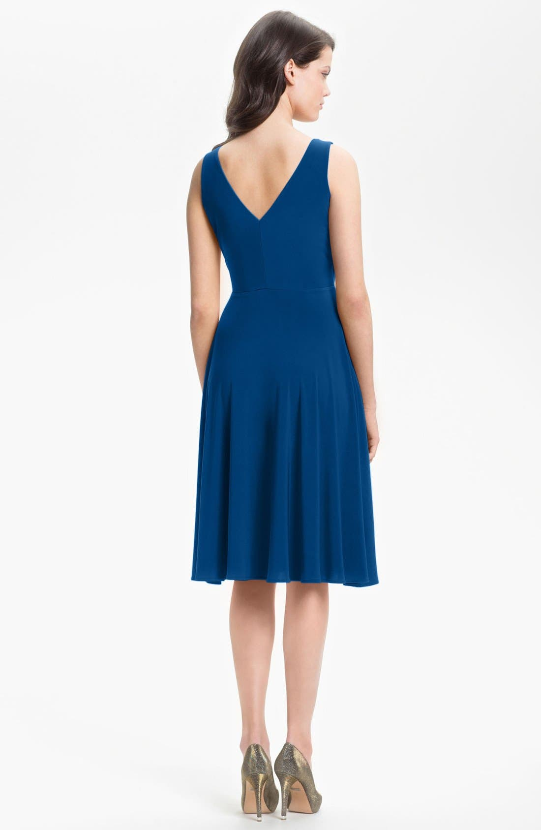 Alternate Image 2  - Isaac Mizrahi New York Surplice Jersey Dress (Regular & Petite)