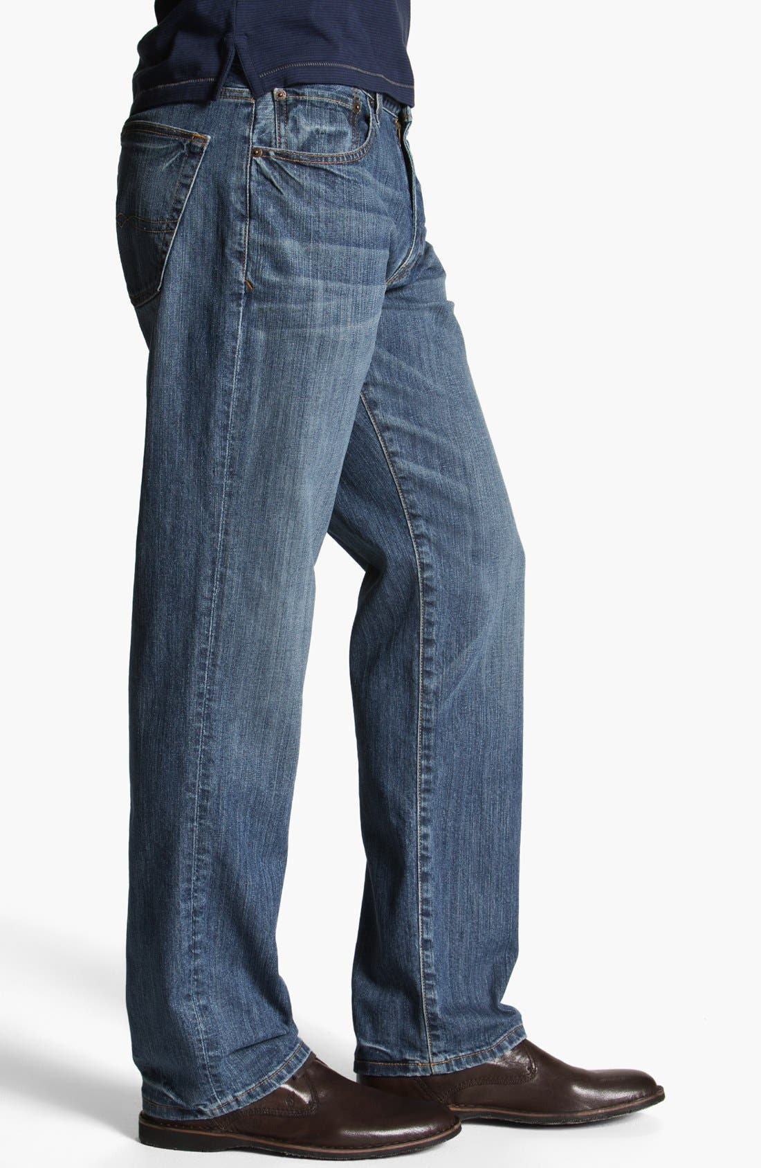 Alternate Image 3  - Lucky Brand '329' Classic Straight Leg Jeans (Sandy)