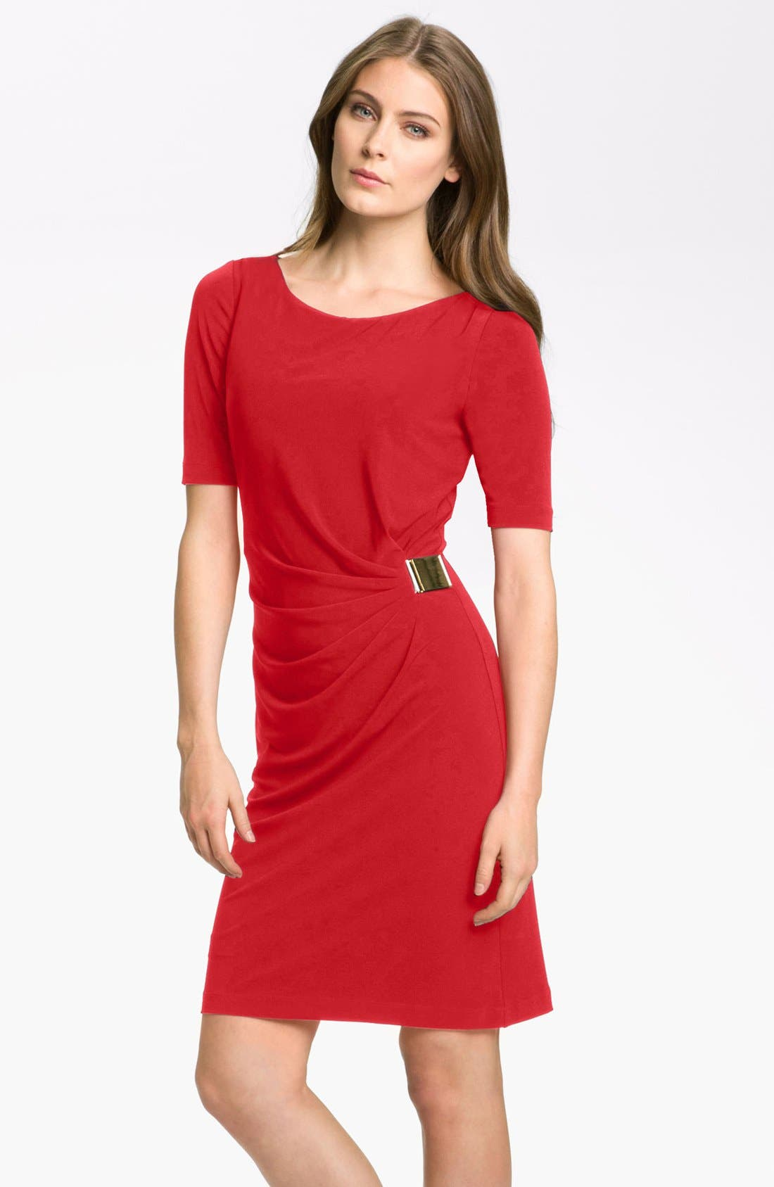 by Arthur S. Levine 'Kevin' Jersey Sheath Dress,                         Main,                         color, Tomato Red