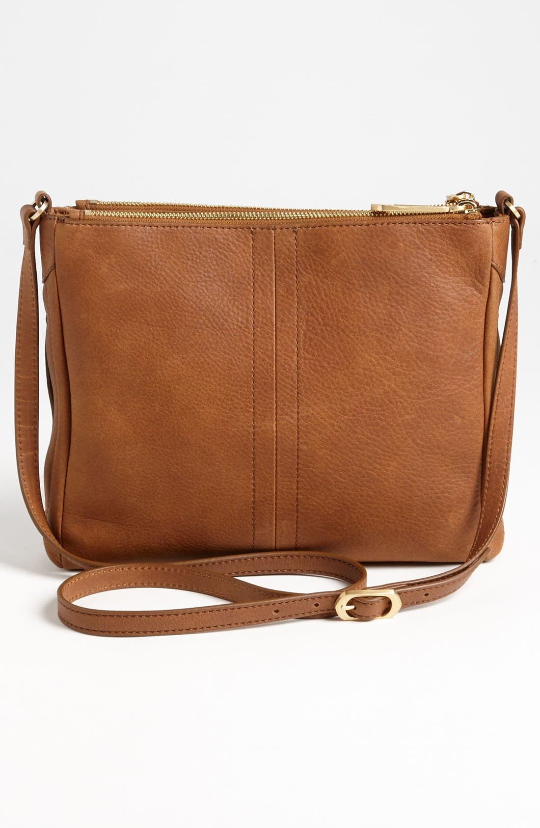 Alternate Image 4  - T Tahari Pleated Double Zip Leather Crossbody Bag