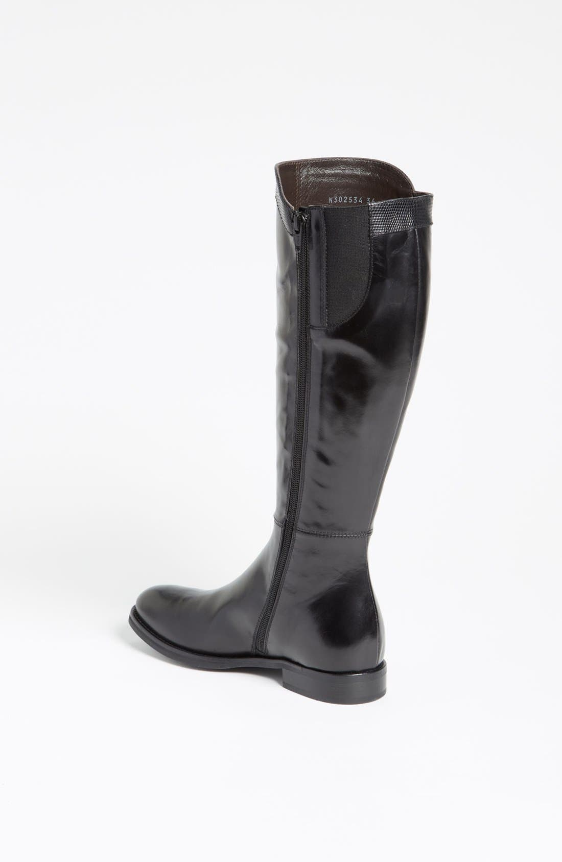 Attilio Giusti Leombruni Tall Boot,                             Alternate thumbnail 2, color,                             Black