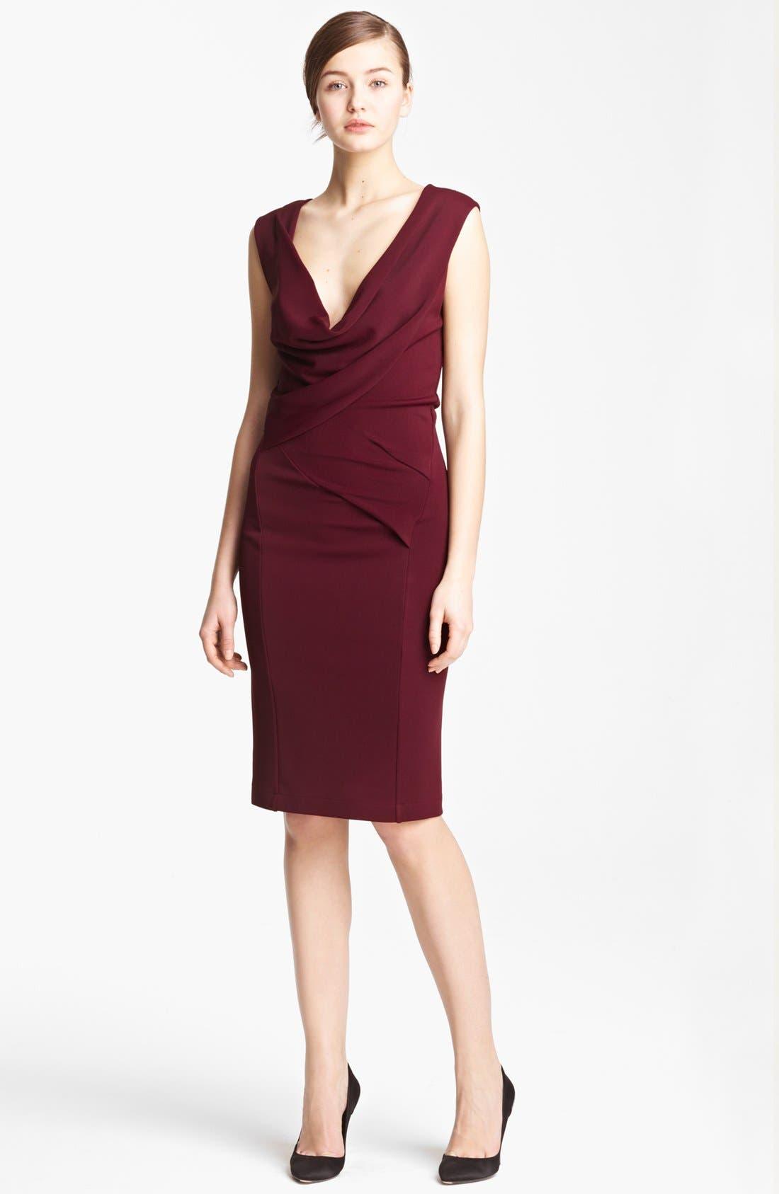 Main Image - Donna Karan Draped Crepe Jersey Dress