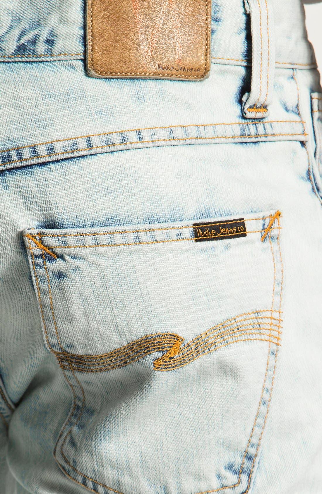 Alternate Image 4  - Nudie 'Grim Tim' Skinny Straight Leg Jeans (Organic Bleach Depot)