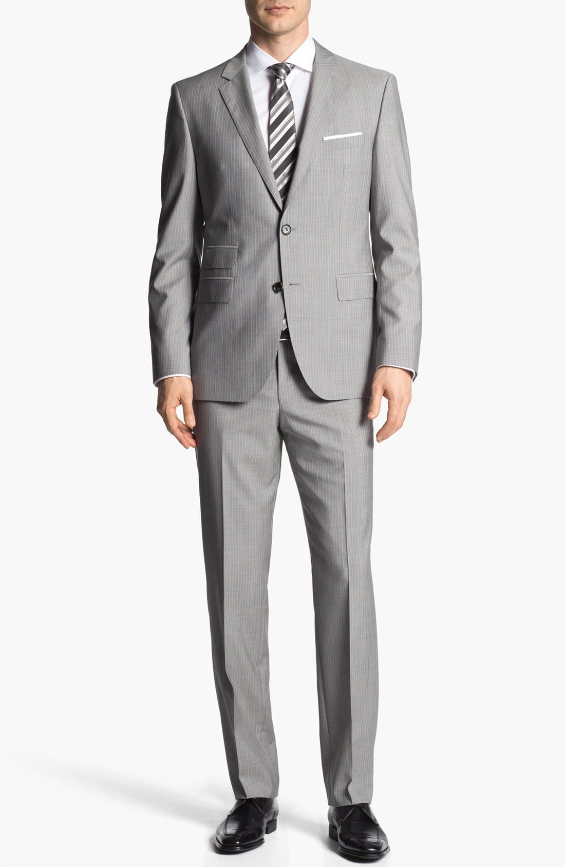 Alternate Image 1 Selected - BOSS HUGO BOSS 'The Sweet/Sharp' Trim Fit Stripe Suit