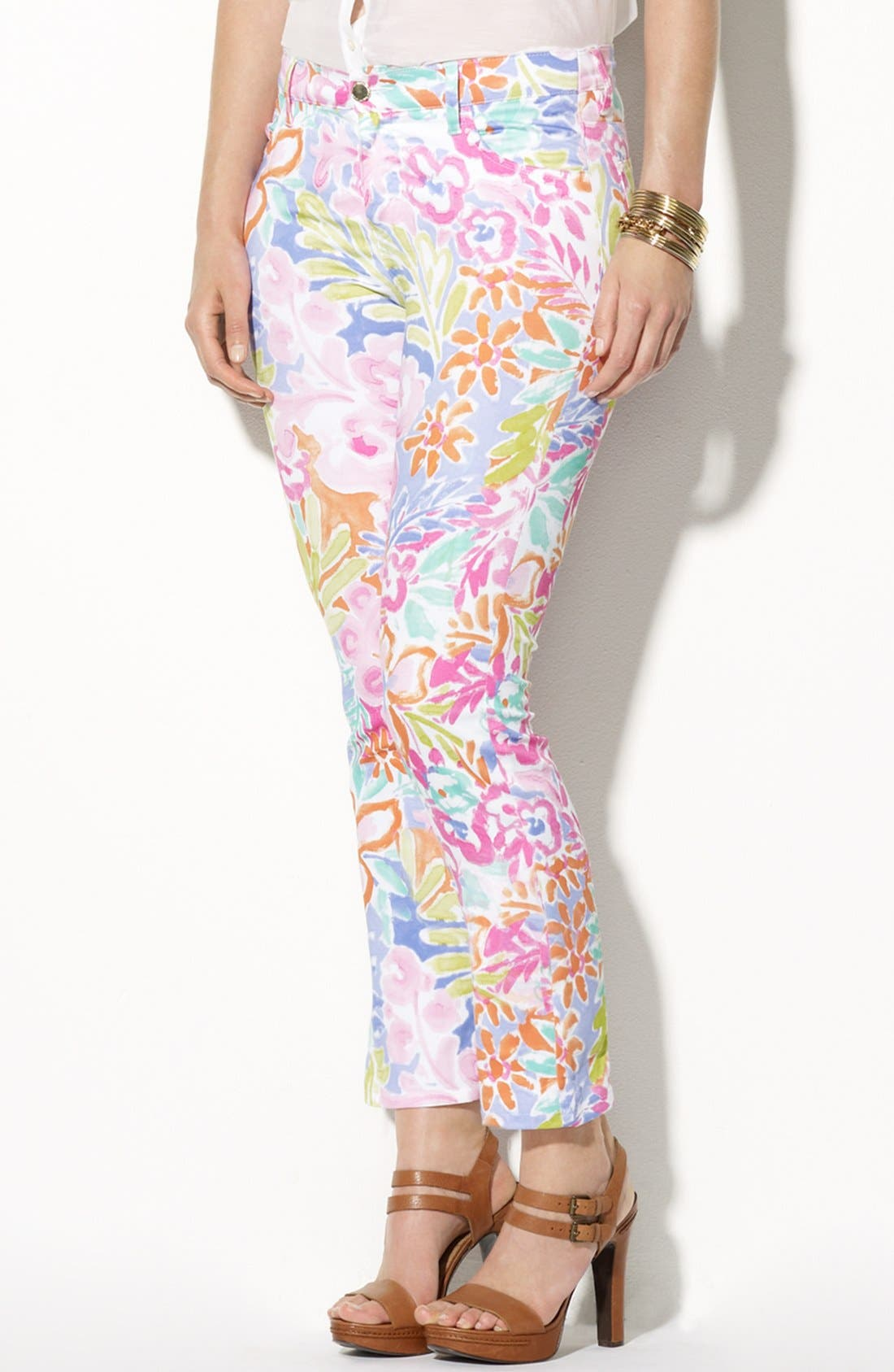 Alternate Image 1 Selected - Lauren Ralph Lauren Modern Skinny Ankle Pants (Plus Size)