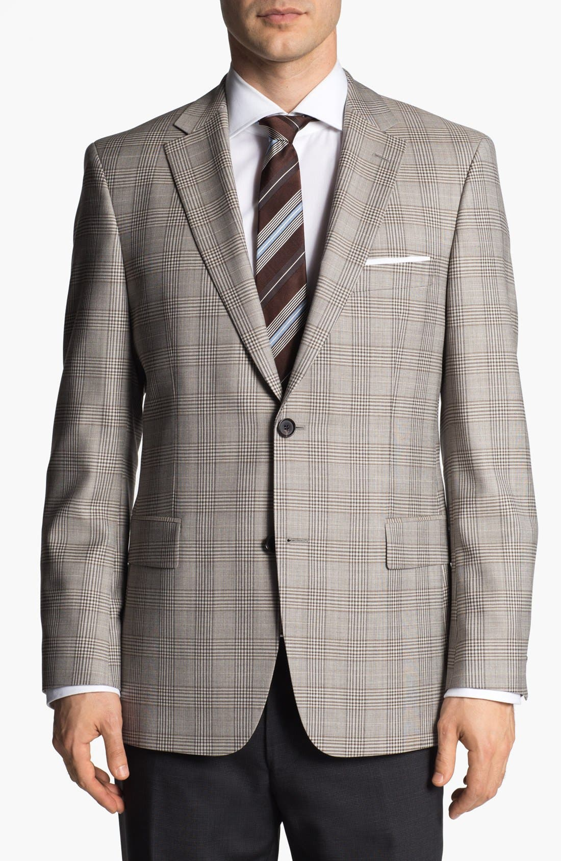 Main Image - BOSS HUGO BOSS 'Pasini' Glen Plaid Sportcoat