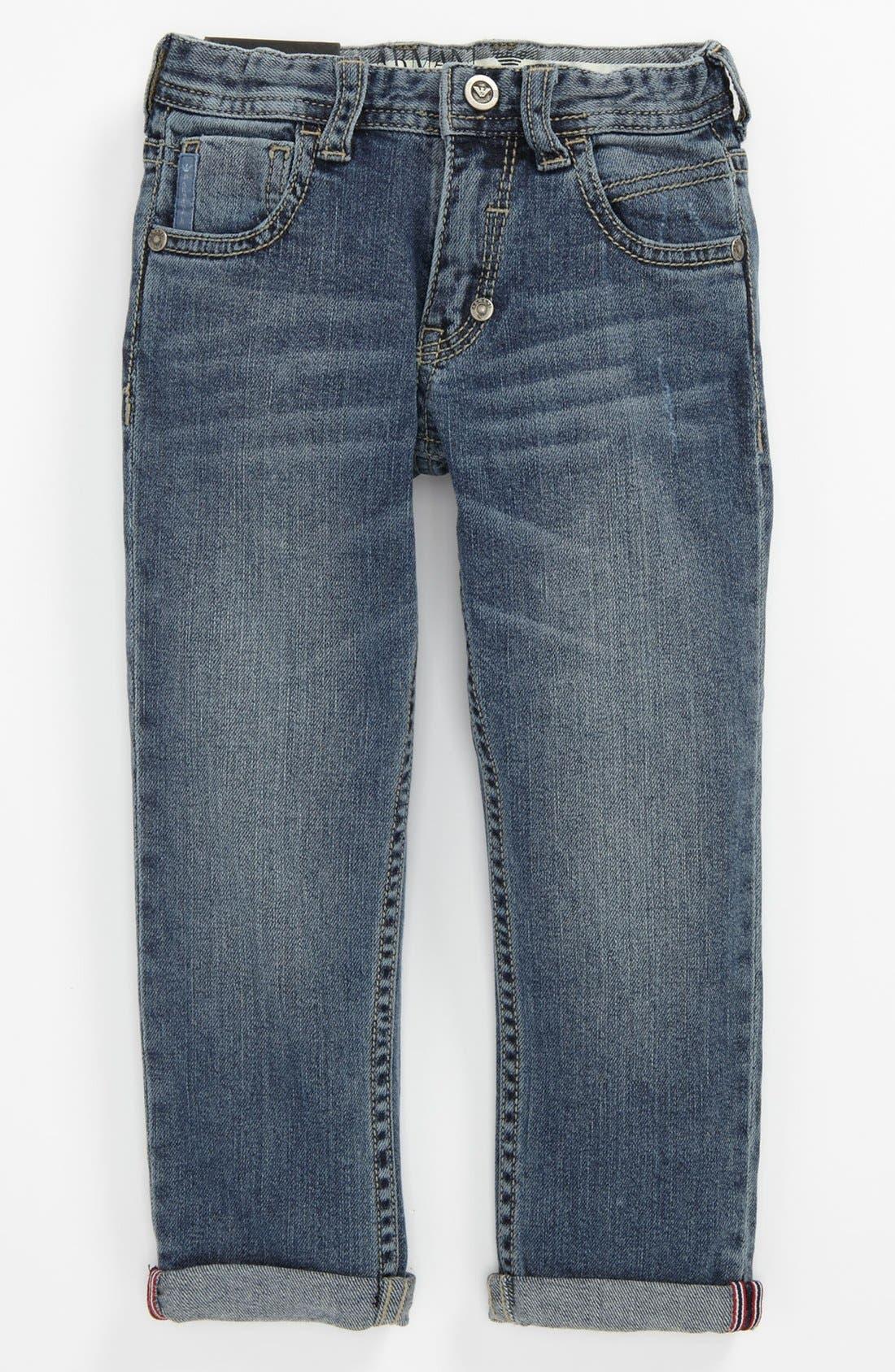 Alternate Image 2  - Armani Junior Straight Leg Jeans (Toddler & Little Boy)