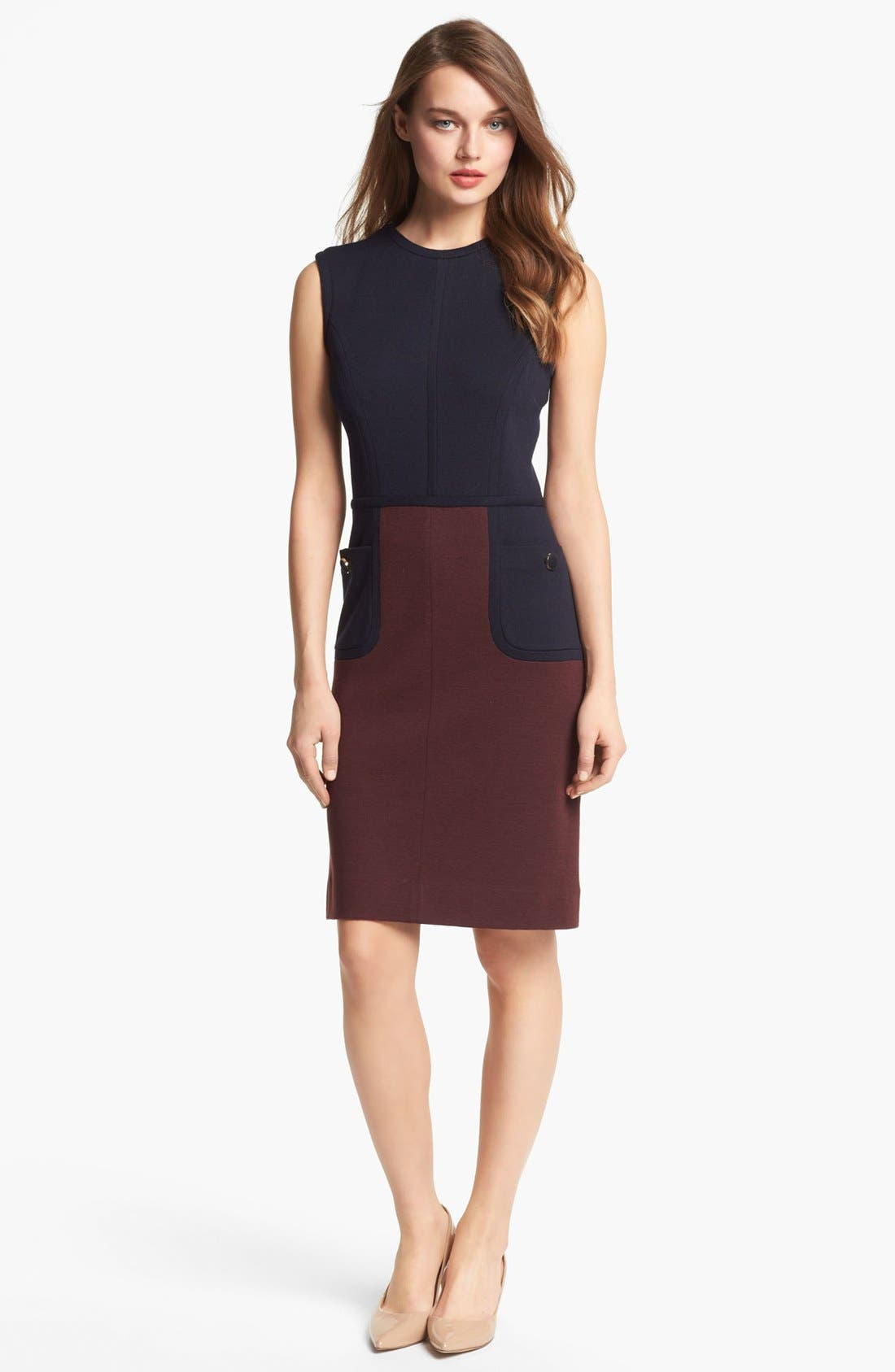 Main Image - Tory Burch 'Brianna' Colorblock Sheath Dress