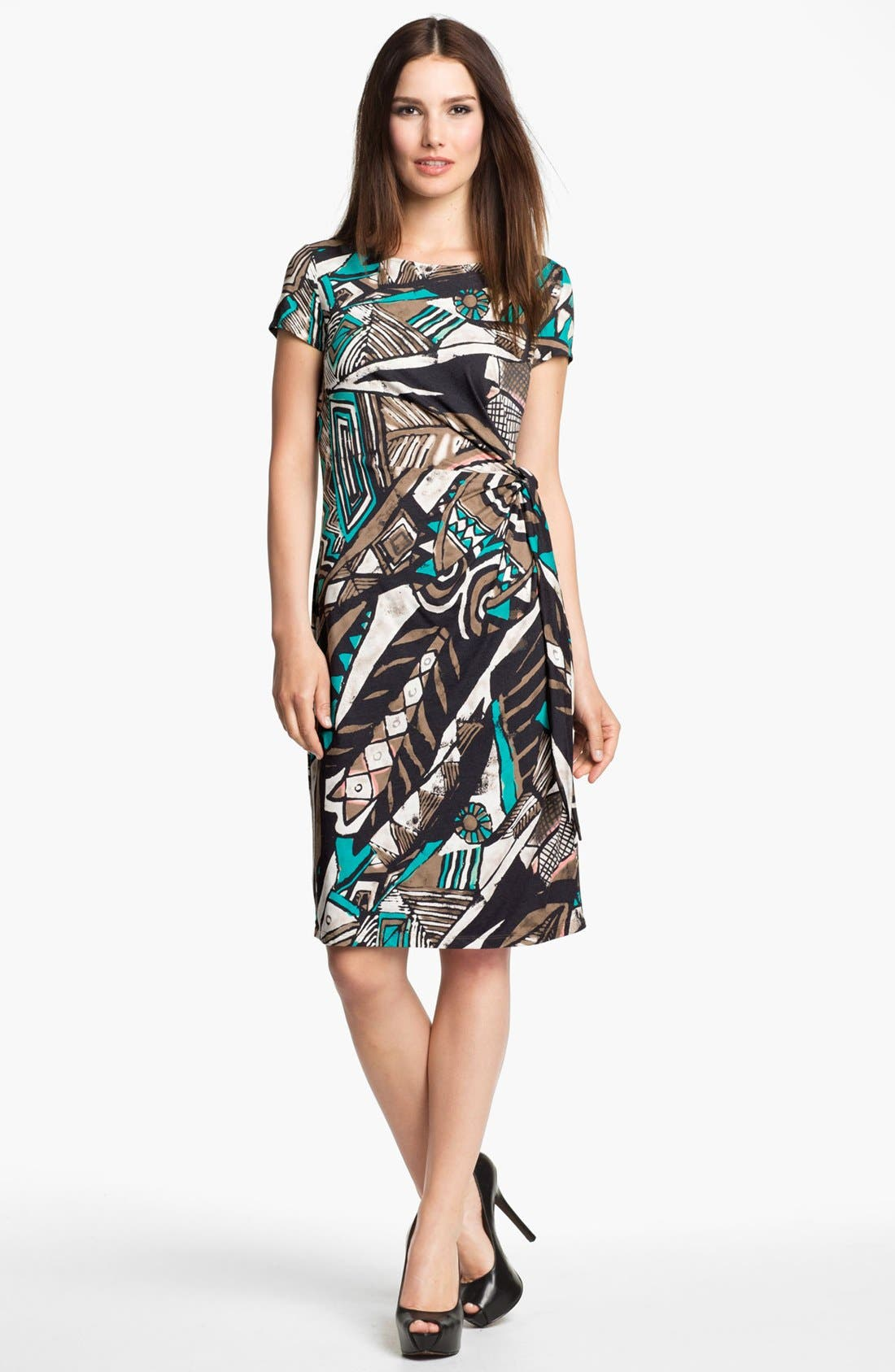 Alternate Image 1 Selected - Lafayette 148 New York 'Kuna' Print Jersey Dress