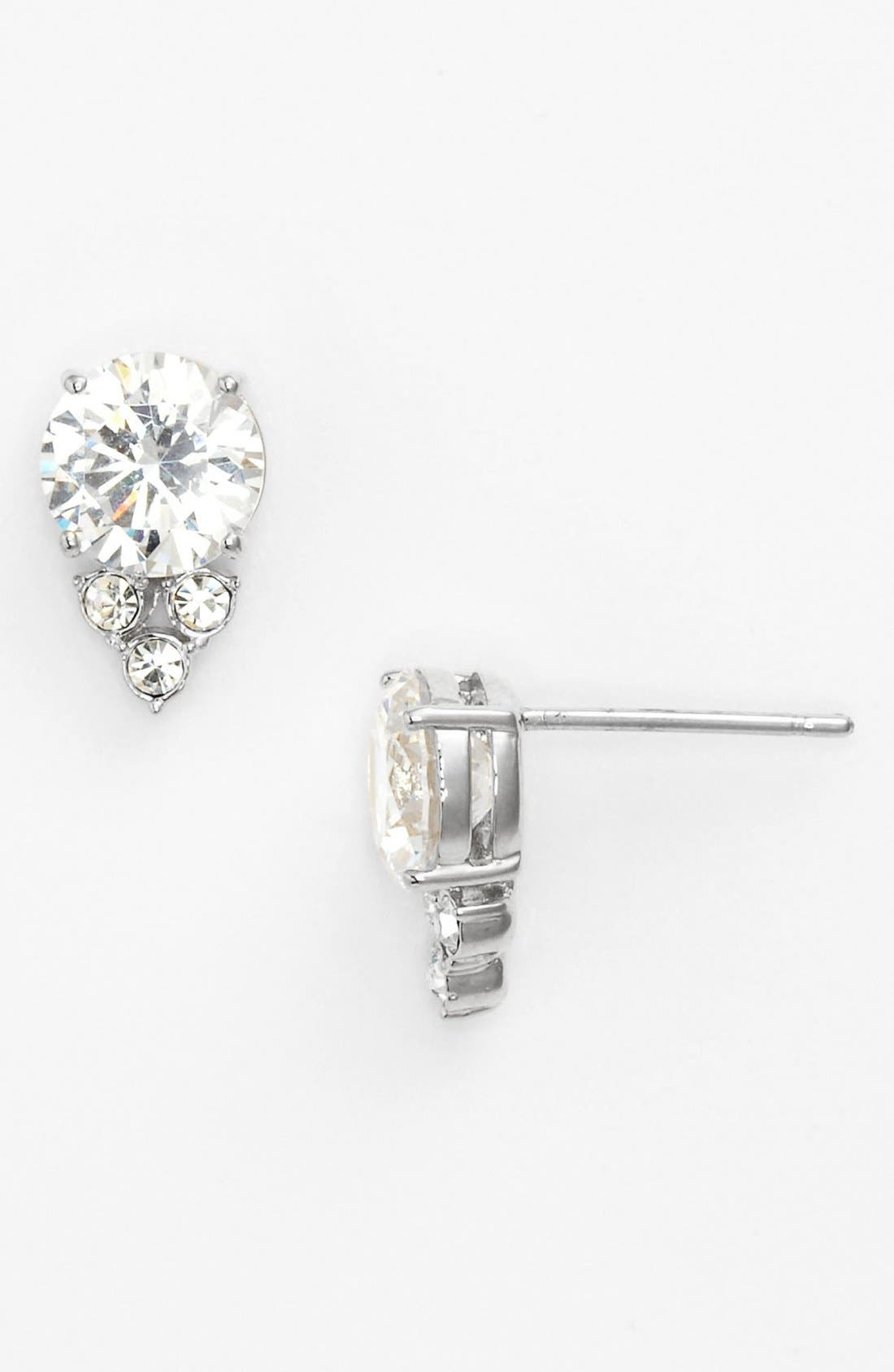 Alternate Image 1 Selected - Nadri Cubic Zirconia Cluster Stud Earrings
