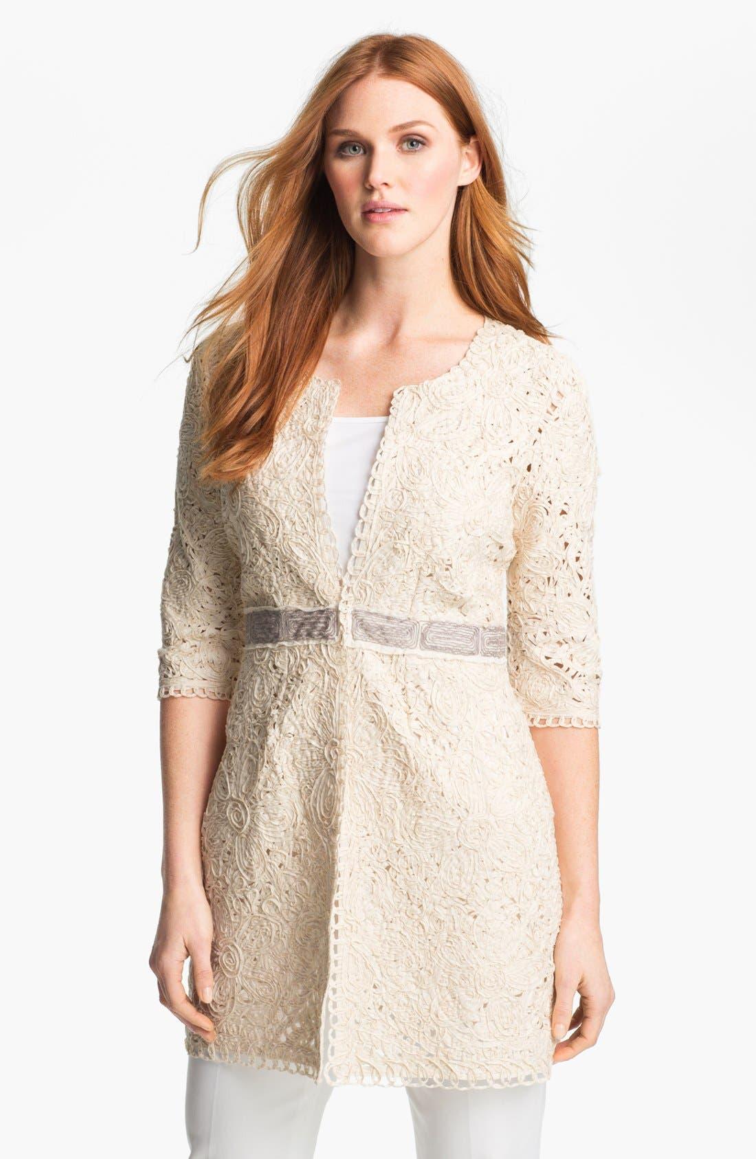 Alternate Image 1 Selected - Nic + Zoe Battenburg Lace Jacket (Petite)