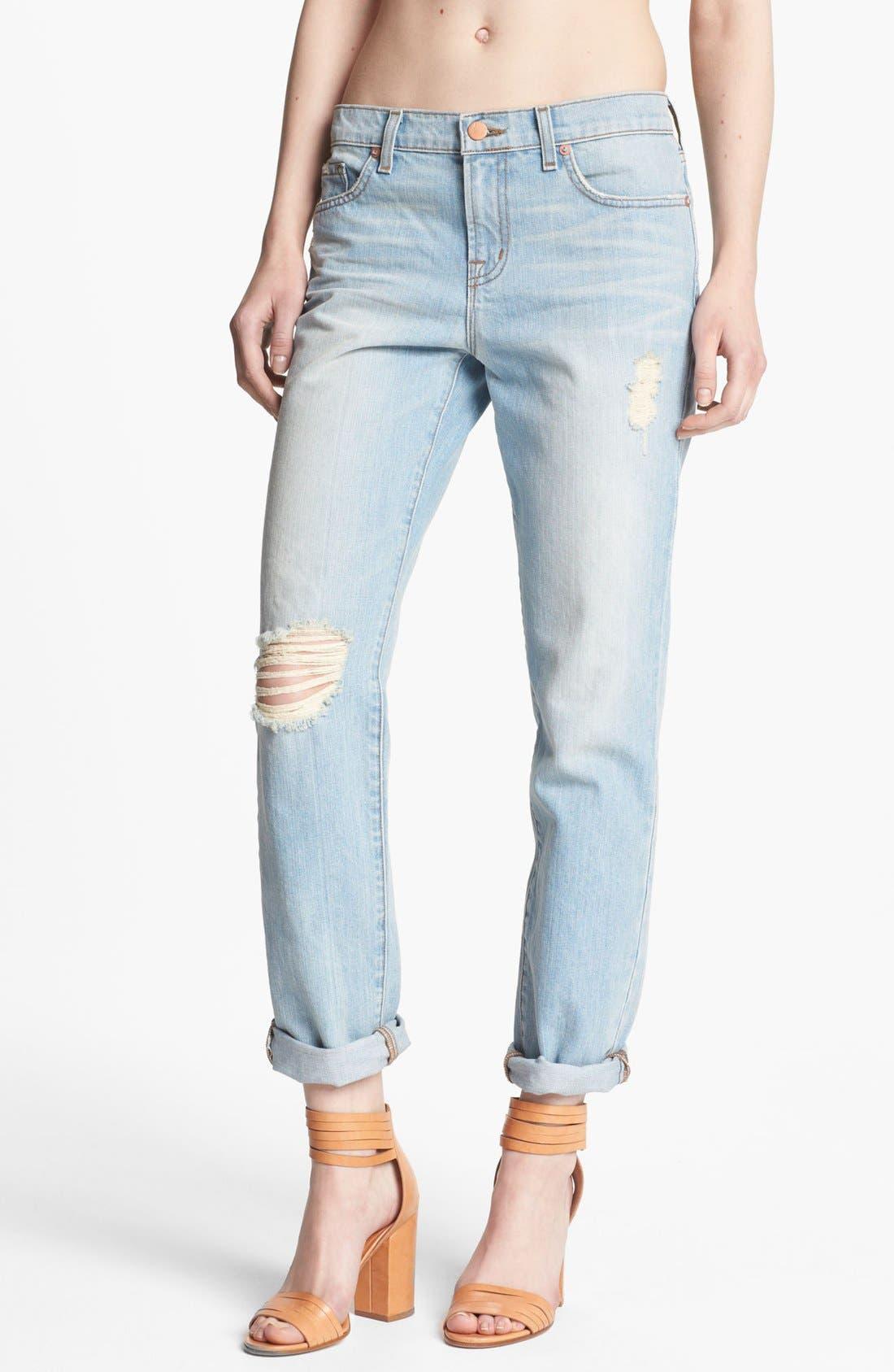 Main Image - J Brand 'Aidan' Slouchy Boyfriend Jeans (Meadow)
