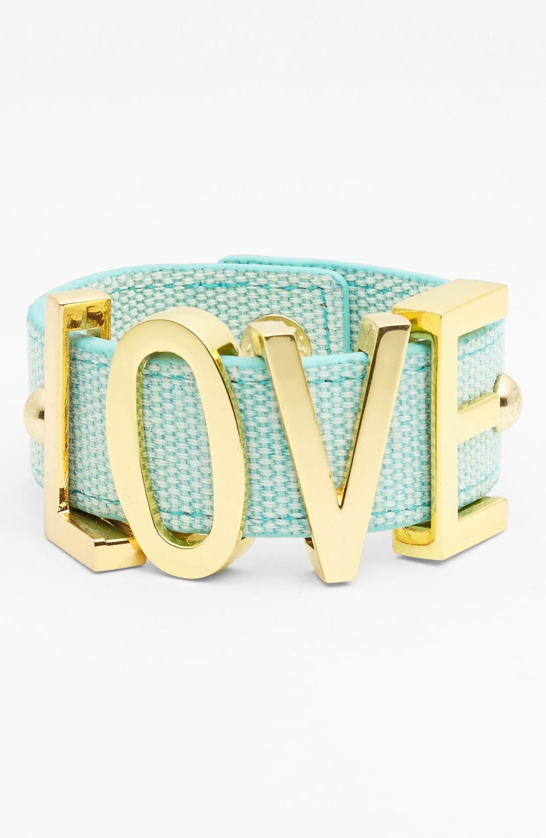 Alternate Image 1 Selected - BCBGeneration 'Affirmation - Large' Canvas Bracelet