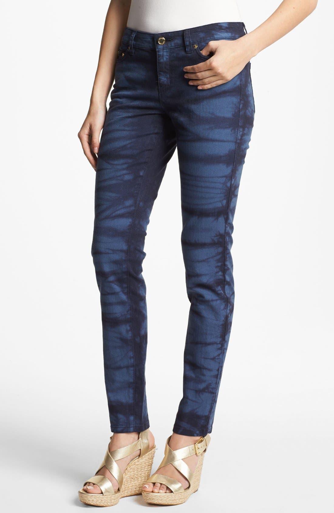 Alternate Image 1 Selected - MICHAEL Michael Kors Tie Dye Print Jeans