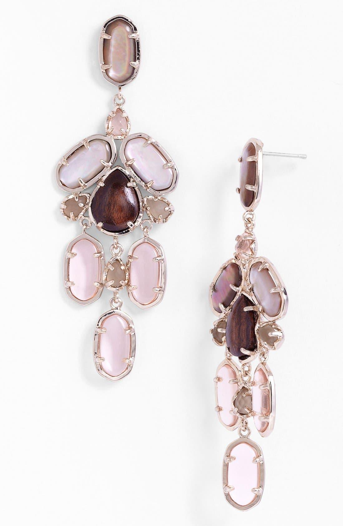 Alternate Image 1 Selected - Kendra Scott 'Kyra' Mixed Stone Chandelier Earrings