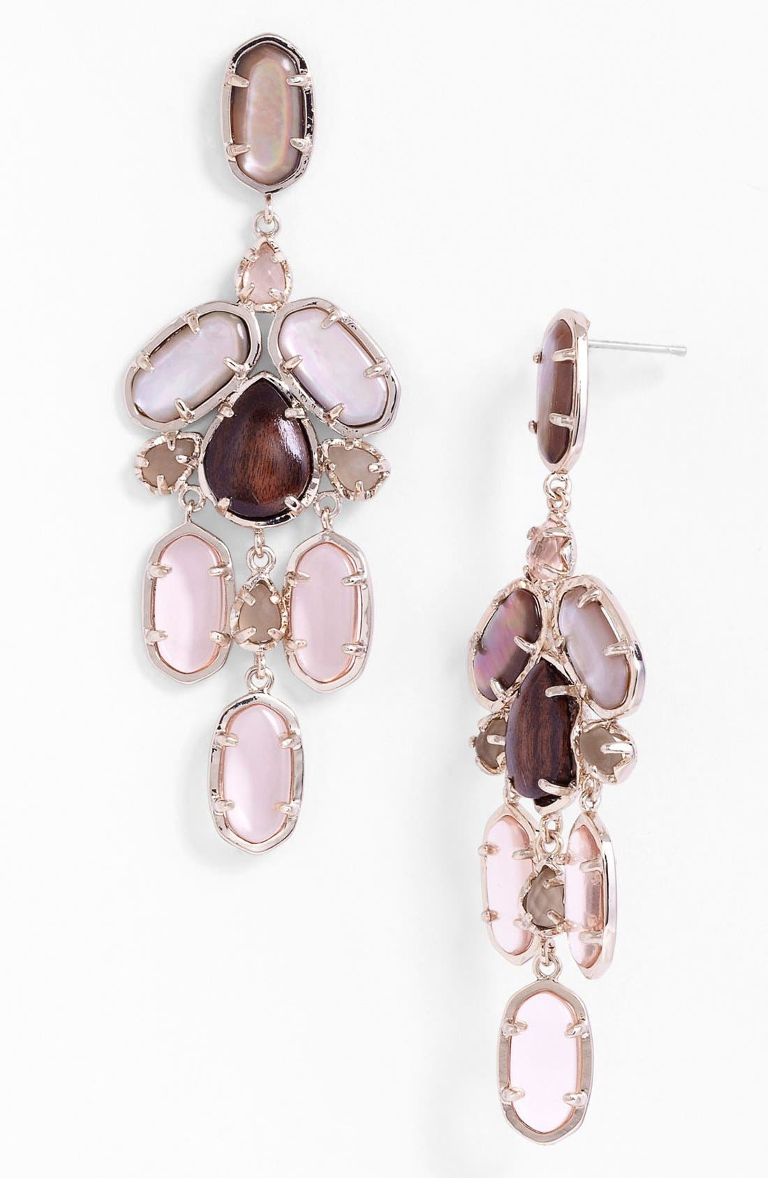 Main Image - Kendra Scott 'Kyra' Mixed Stone Chandelier Earrings