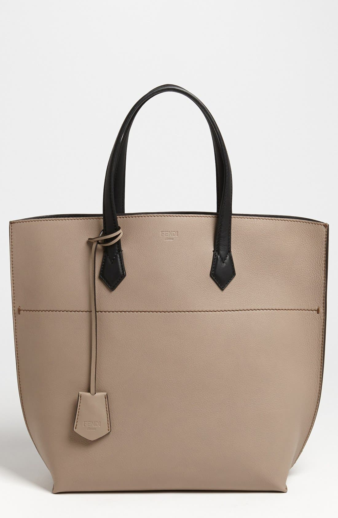 Alternate Image 1 Selected - Fendi 'All In' Leather Shopper