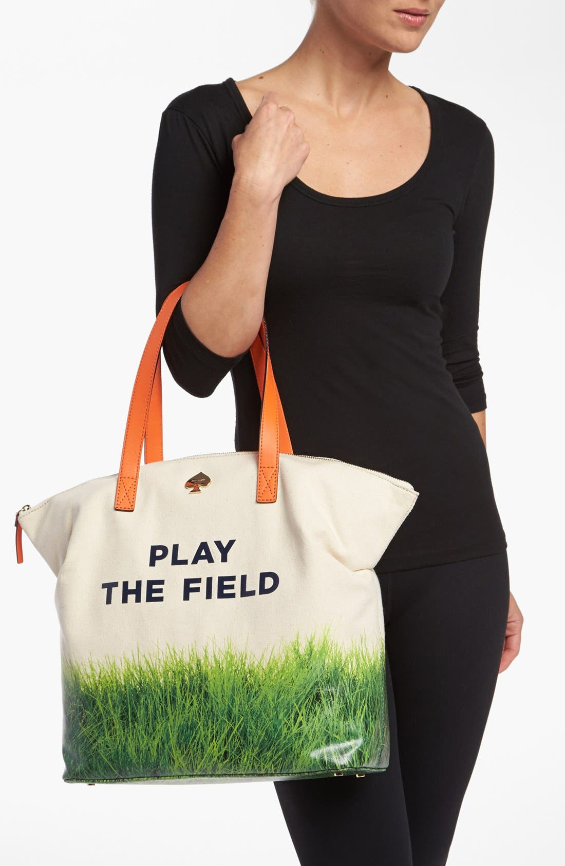 Alternate Image 3  - kate spade new york 'call to action - terry' canvas tote