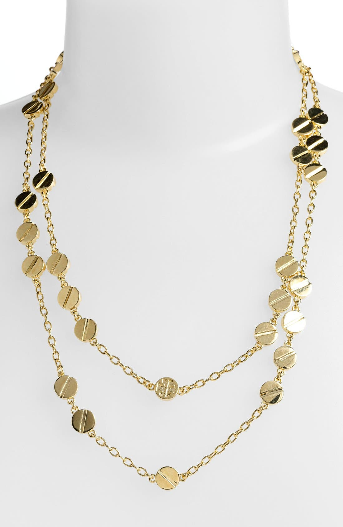 Alternate Image 2  - Tory Burch 'Screw Rivet' Extra Long Station Necklace