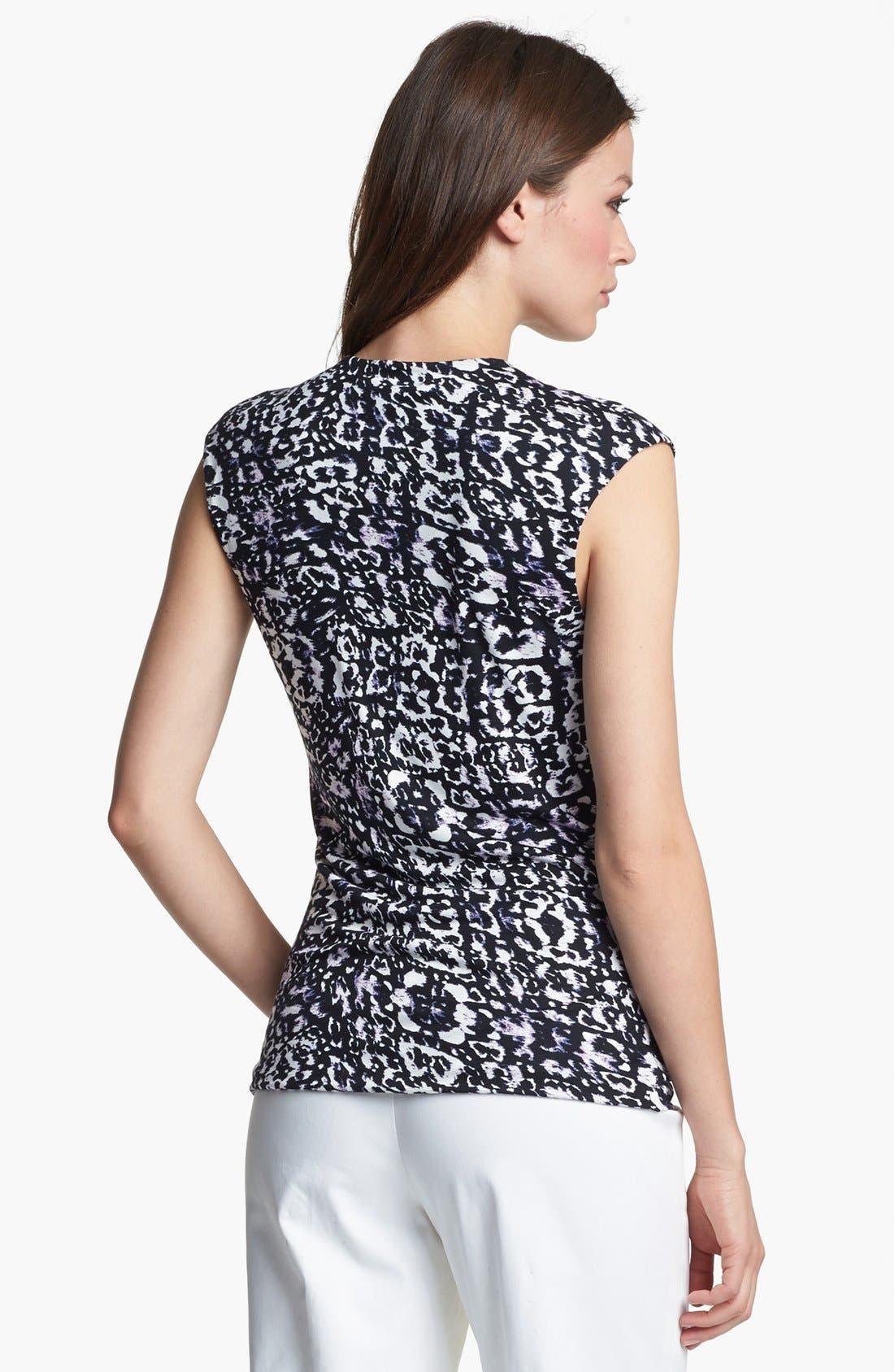 Alternate Image 2  - Classiques Entier® Drape Neck Sleeveless Jersey Top