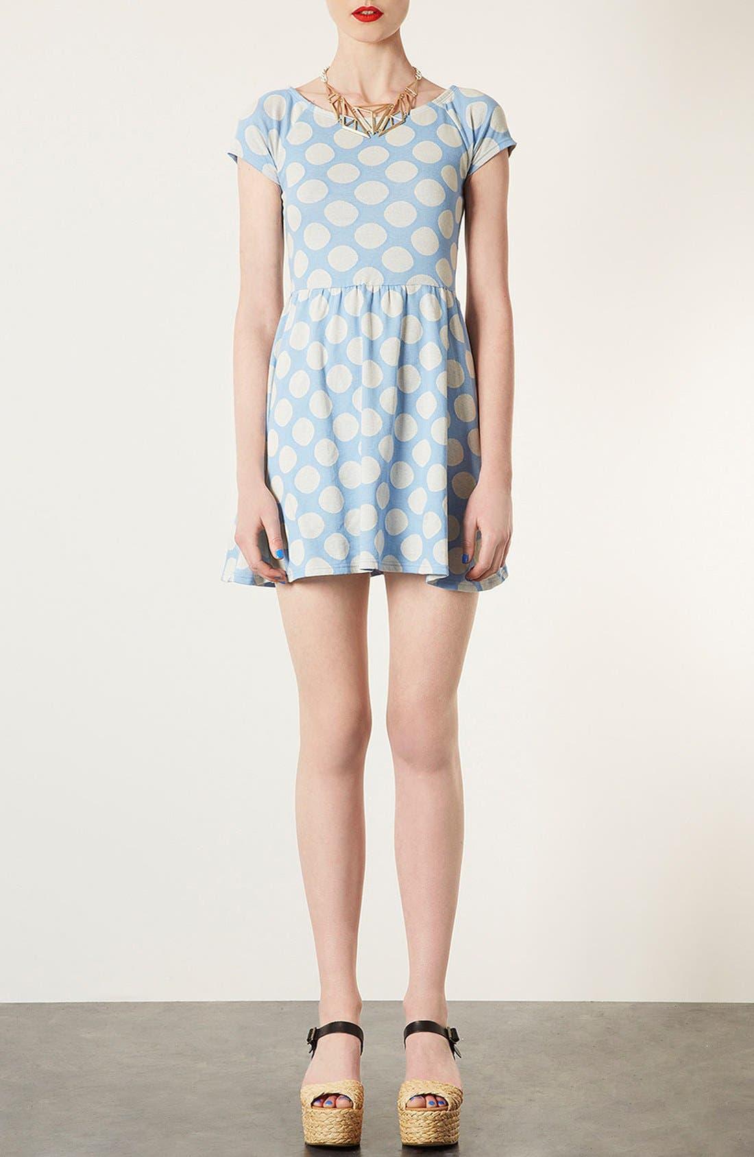 Main Image - Topshop Polka Dot Tunic Dress